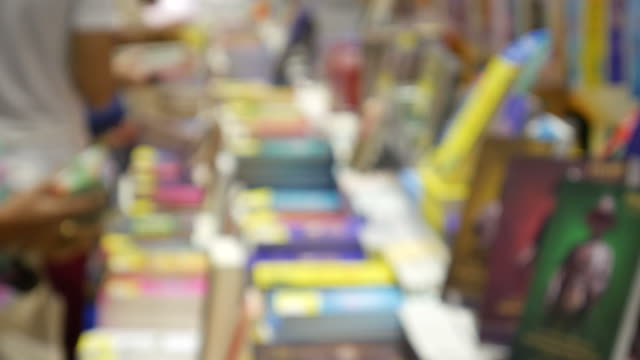 People at book stall video