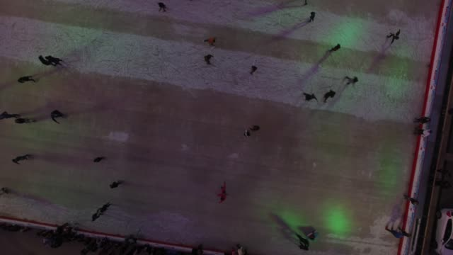 People at the Skating Rink video