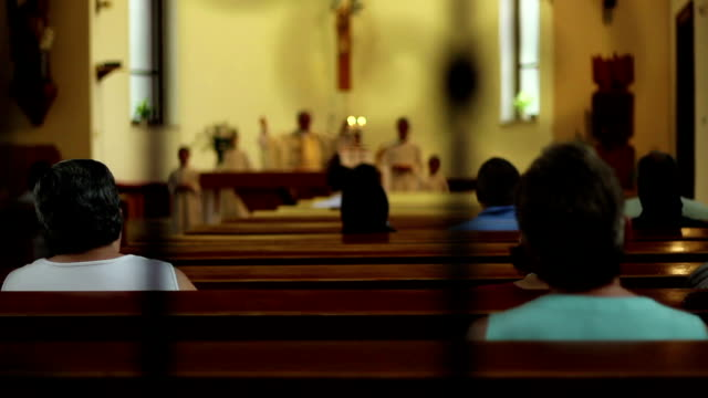 people attend religious service - christianity stock videos & royalty-free footage
