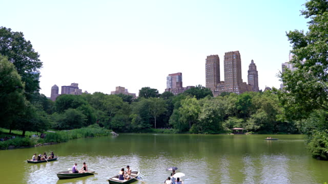 people. boat. relax. central park - pond stock videos & royalty-free footage