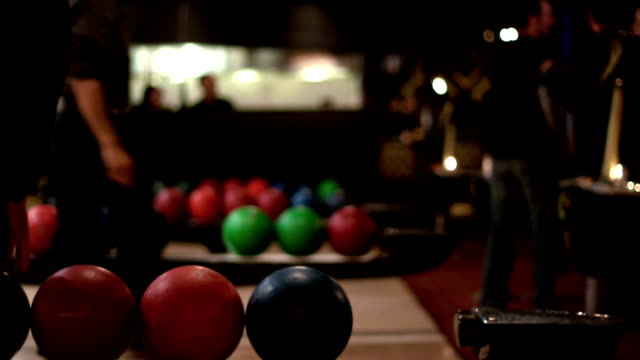 People bowling - time lapse video