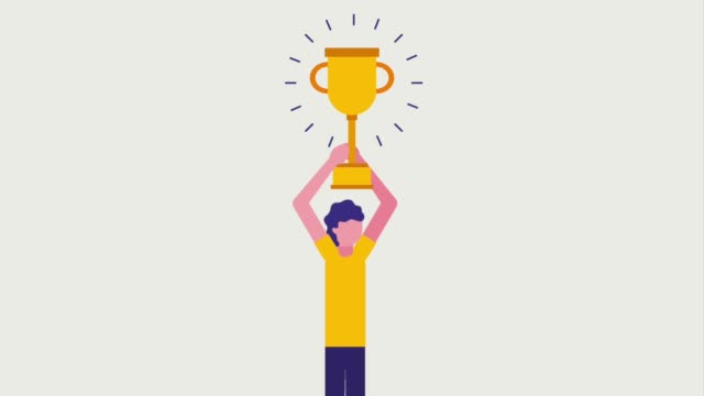 people business animation businessman holding trophy award success animation hd incentive stock videos & royalty-free footage