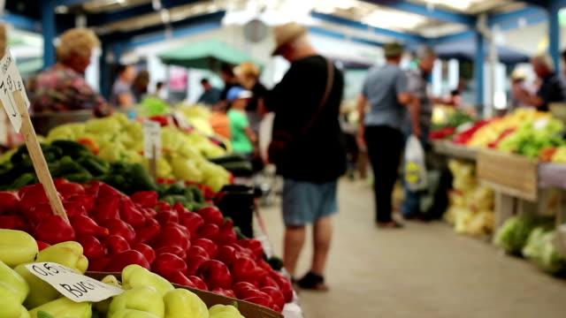 People Buying Vegetables video