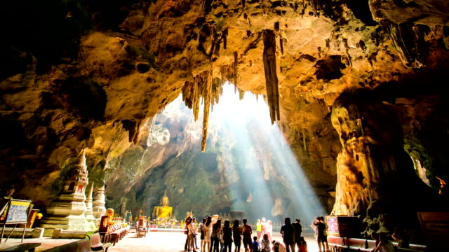 People came to repest Temple where building inside cave video