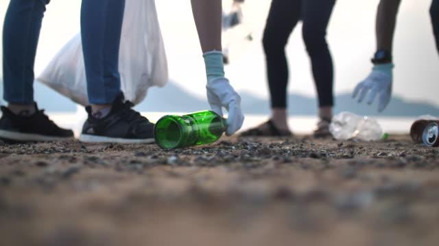 ビーチの清掃エリア - きれいにする点の映像素材/bロール