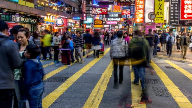 People Crowd at Pedestian Near Mongkok