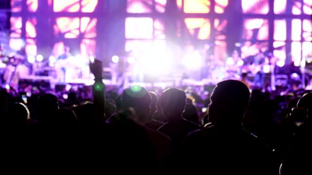 People crowd listen to Concert