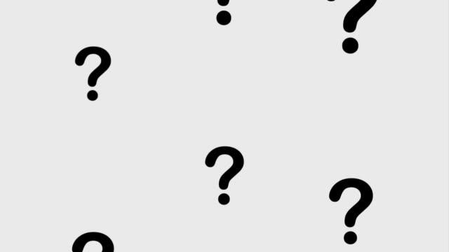people customer service - question mark video stock e b–roll