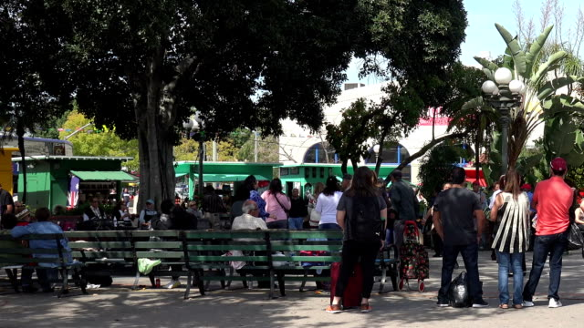 People dancing in the square at Olvera Street