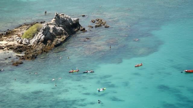 People doing sea sport activities on holidays