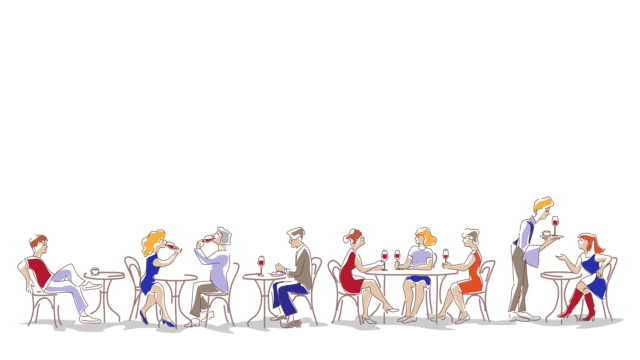 menschen essen und trinken im café - menschliche beziehung stock-videos und b-roll-filmmaterial