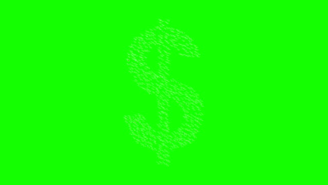People form dollar sign. video
