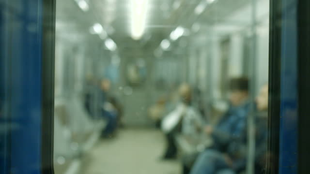People go home in the subway. video