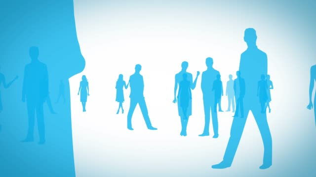 people go to [loop] men and women silhouette silhouette people stock videos & royalty-free footage