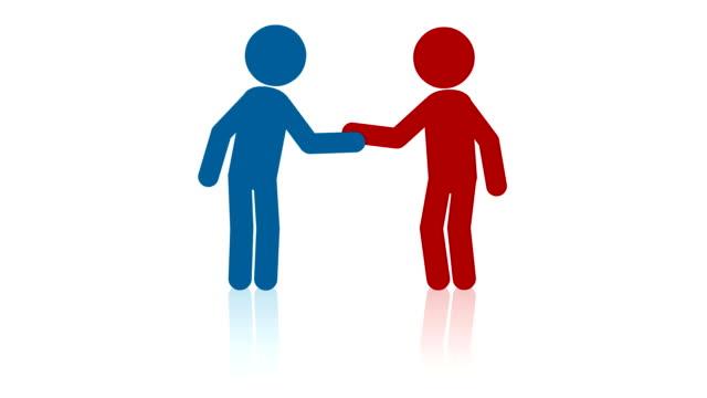 People handshake video