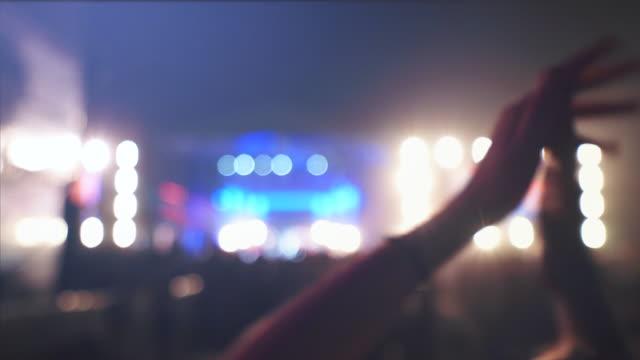 People having fun at concert.