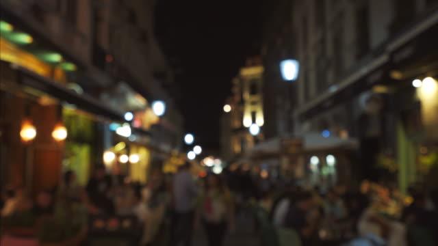 People having fun late in night. video