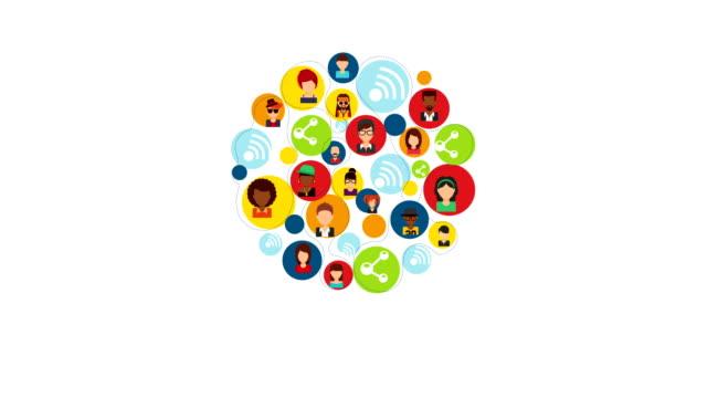 vídeos y material grabado en eventos de stock de iconos de personas, vídeo de animación - person icon