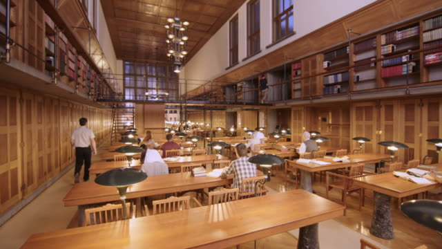 CS People in library's reading room video