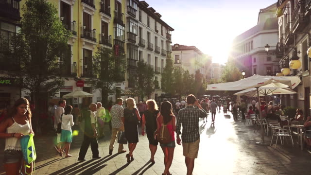 People in the City center of Madrid