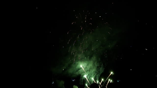 people look beautiful fireworks in the evening on holiday people look beautiful fireworks in the evening on holiday 1 family 4th of july stock videos & royalty-free footage
