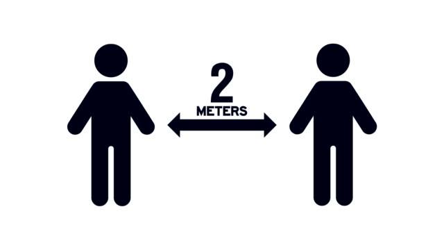 vídeos de stock, filmes e b-roll de pessoas movendo-se 2 metros de distância umas das outras para o distanciamento social para evitar exposição a vírus, bactérias e outras doenças que causam patógenos - distante