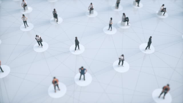 People network, social distancing digital generated animation about the need of social distancing during pandemic employee engagement stock videos & royalty-free footage
