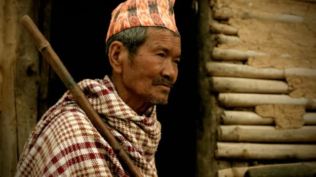 People of Nepal: Senior man from rural background video