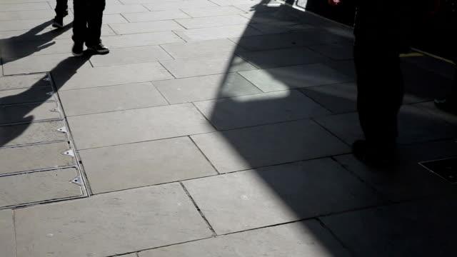 people on regent street near Oxford circus video