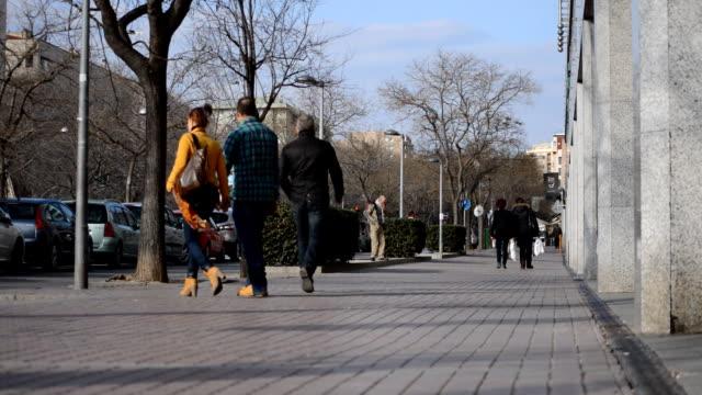 People on the Sidewalk video