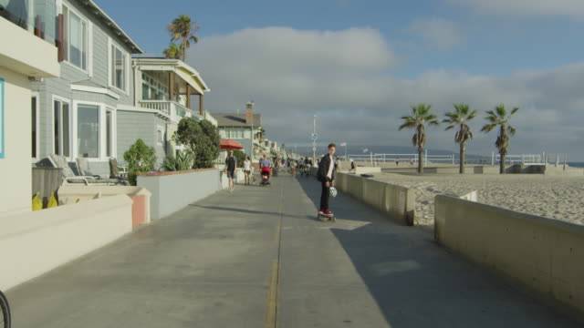 People on the waterfront of Hermosa Beach