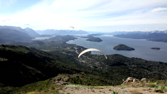 People Paragliding in Bariloche, Argentina video