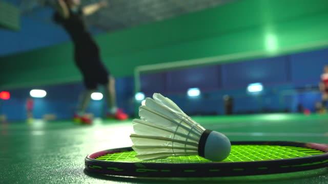 les gens jouent badminton - Vidéo