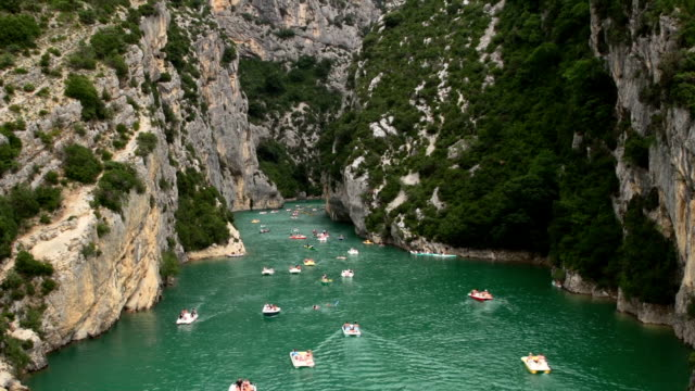 people playing in Verdon Gorge in south France