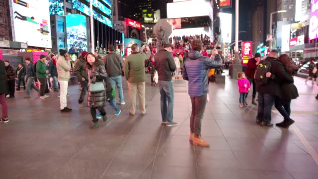 People point of view Times Square POV New York City video