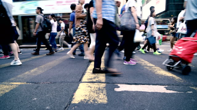 People Rush in Hong Kong, China video