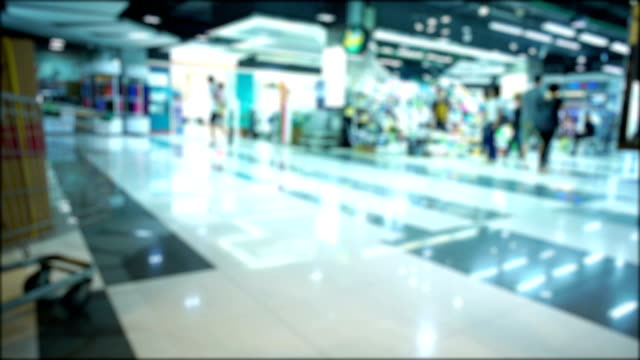 People Shopping Mall, Out of focus video