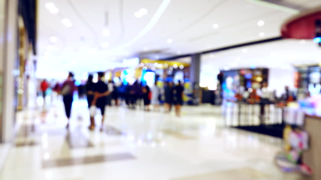 People Shopping Mall video