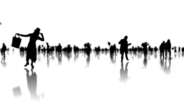 People silhouettes animation video