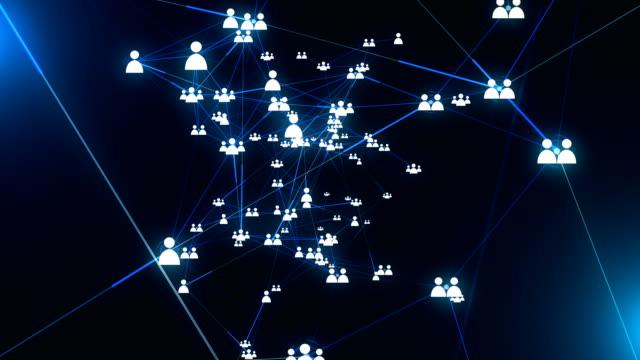 människor socialt nätverk anslutning - koppling bildbanksvideor och videomaterial från bakom kulisserna
