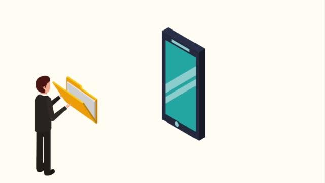 mobile menschen speicherdaten - kind isometric stock-videos und b-roll-filmmaterial