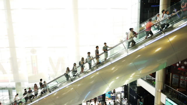 People to move the escalator video