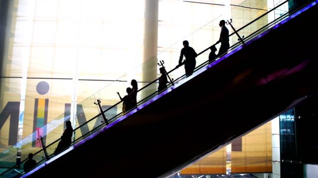 ws:people to move the escalator - scala mobile video stock e b–roll