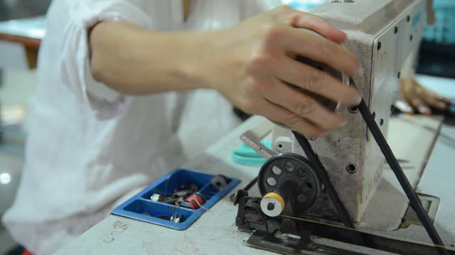People Use Sewing Machine video