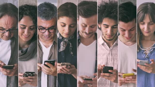 personen, die das mobiltelefon benutzen - feedback stock-videos und b-roll-filmmaterial