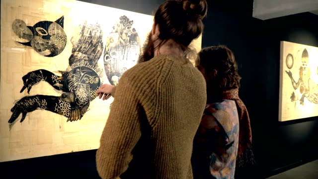 People visit an exhibition