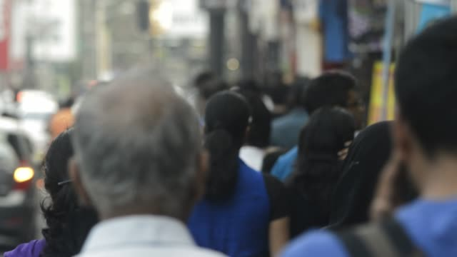 People walk on Brigade Road bangalroe