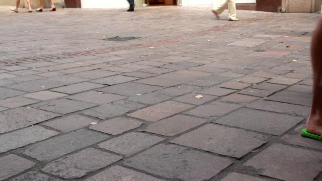 People walking at streets of Baden-Baden, Germany video