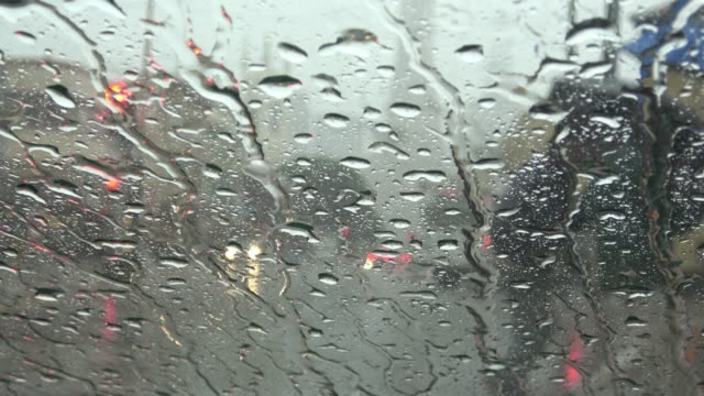 vídeos de stock e filmes b-roll de people walking during rain in the city. - guarda chuva
