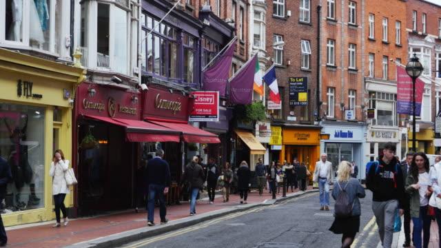 People Walking In Dublin Wicklow Street video